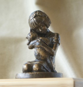 Girl-kitty-figurine