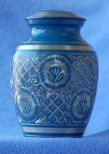 Urn-CarvedBrassBlue