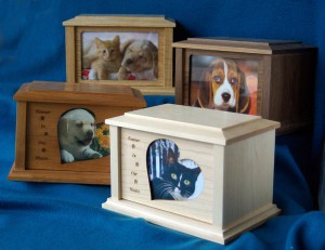 Magic Window urns are available in four different woods.