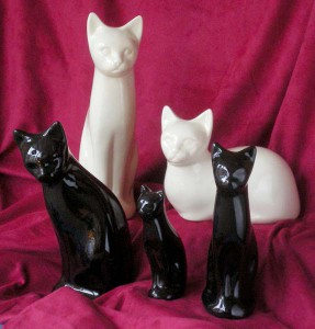 Ceramic cat urns