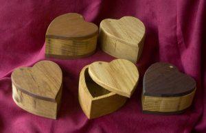 wooden heart keepsake urns